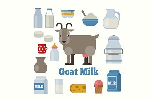 Goat milk products set