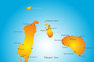 map of Romblon Island group