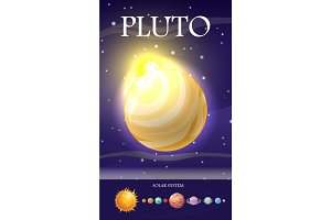 Planet Pluto in Solar System