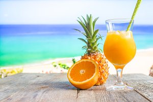 pineapple and orange juice