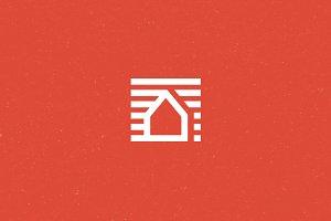 Home Block Logo Template