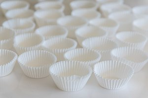 White Muffin Cups
