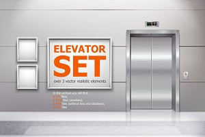 Elevator Realistic Set