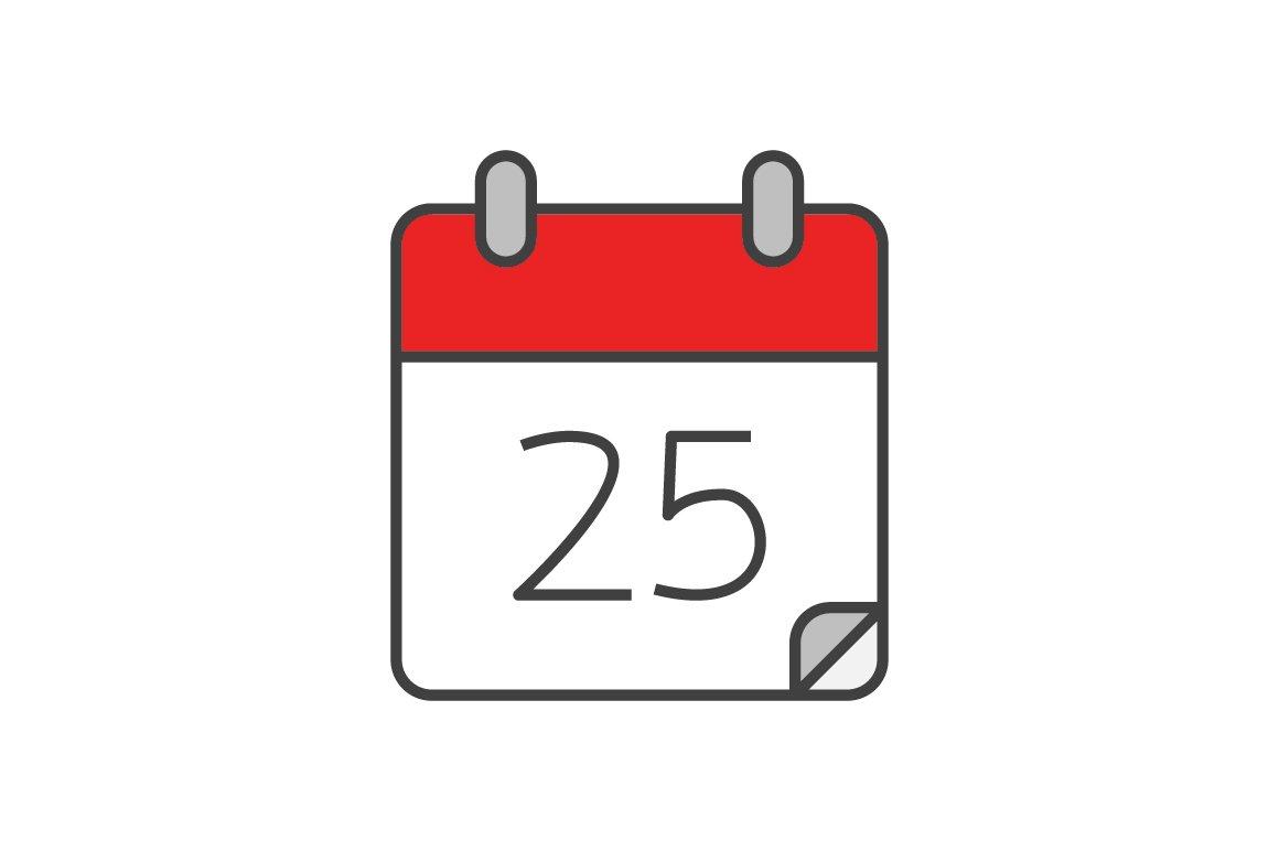 Calendar Icon Vector : Calendar flat line icon icons creative market