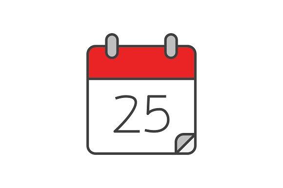 Calendar Logo : Calendar flat line icon icons creative market