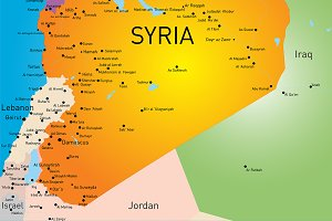 Vector color map of Syria