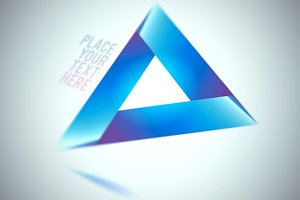 Blue Triangle Shape