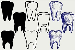 Dropped out teeth SVG