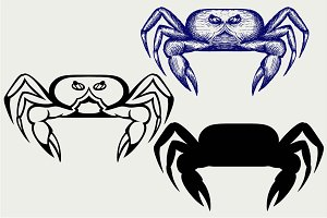 Crabs, side view SVG