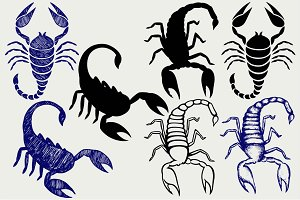 Many Emperor Scorpion SVG