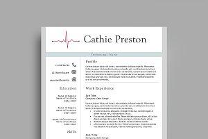 professional nurse resume template resume templates creative market - Professional Nurse Resume Template