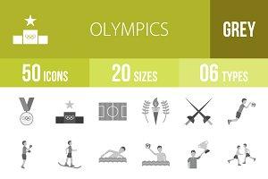 50 Olympics Greyscale Icons