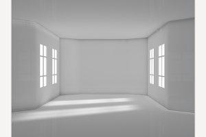 Render empty modern room