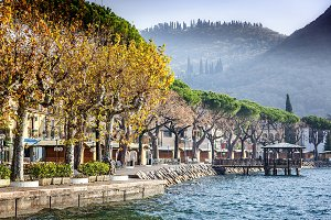 Small town on the Garda Lake