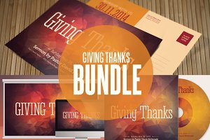 Giving Thanks Church Template Bundle