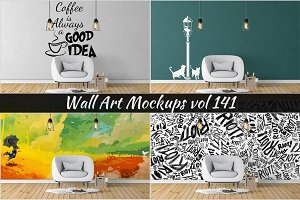 Wall Mockup - Sticker Mockup Vol 141