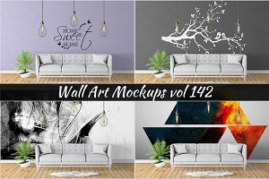 Wall Mockup - Sticker Mockup Vol 142