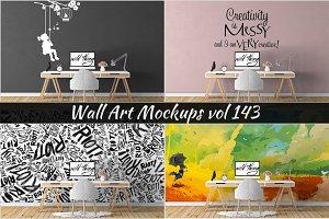 Wall Mockup - Sticker Mockup Vol 143