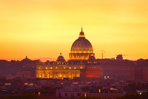 St.Peters Cathedral view at twilight