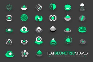 Modern Flat Geometric Shapes