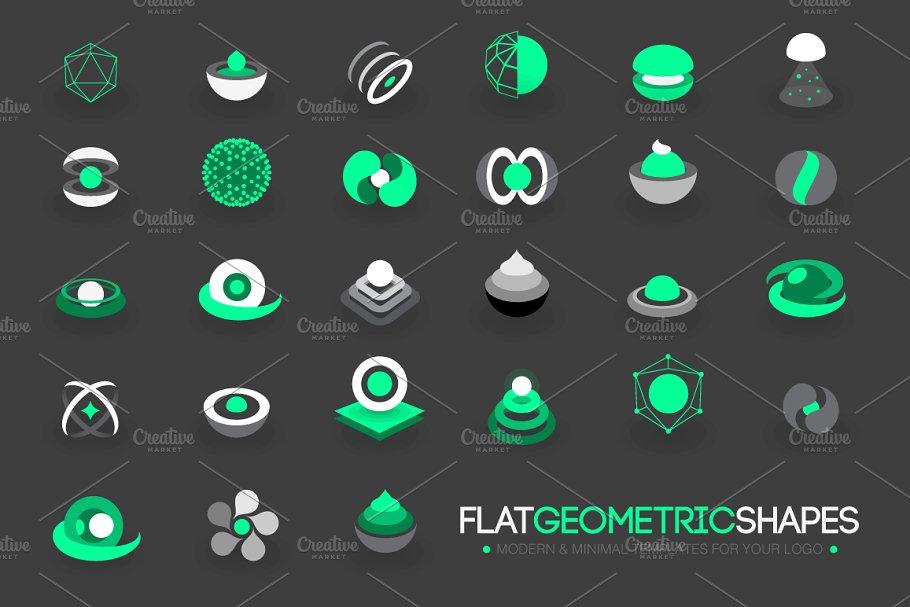 Modern Flat Geometric Shapes