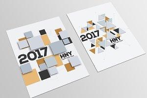 Geometric Christmas cards