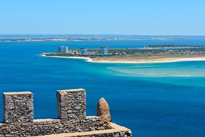 Summer Setubal coast, Portugal.