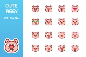 Cute Piggy Emoticon