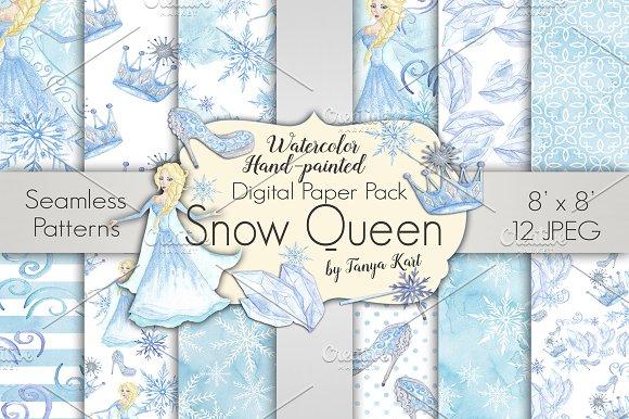 Snow Queen Digital Paper Pack