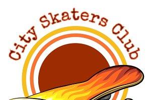 Vector skateboard emblem