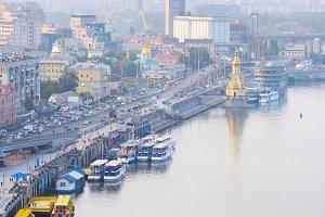 Kiev embankment, Ukraine