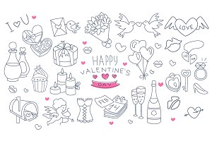 Valentines Day Hand drawn