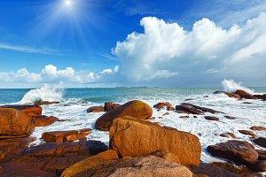 Pink Granite Coast, France.