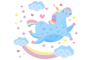 Cute Rainbow Unicorn