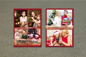Christmas Card Template-V452