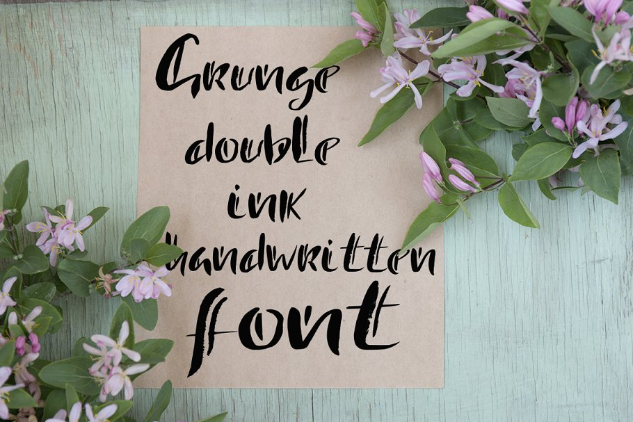 Handdrawn double ink font
