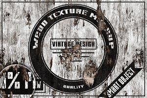 Vintage wood texture mockup