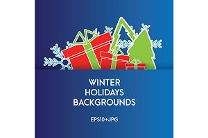 Winter holidays backgrounds