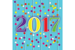 2017 new year celebration card