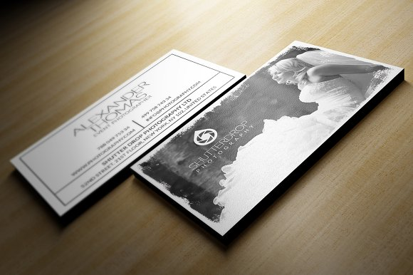 Photography business card business card templates creative market cheaphphosting Images