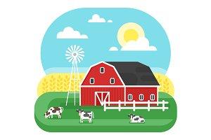 Flat farm