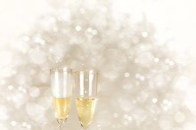 Champagne Glasses. New Year