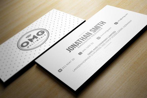 Minimal white business card business card templates creative market colourmoves