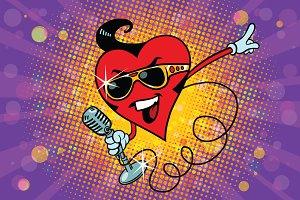 Valentine heart singer