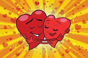 Hug couple love Valentine