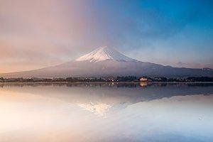 Morning Fuji mountain
