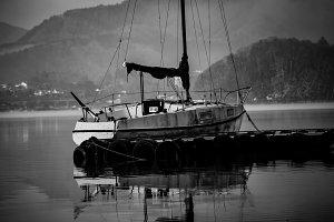 Yatch in kawaguchiko lake