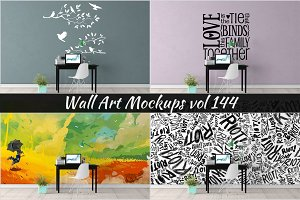 Wall Mockup - Sticker Mockup Vol 144