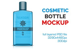 Clear Cosmetic Bottle Mockup Vol. 6