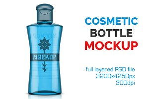 Clear Cosmetic Bottle Mockup Vol. 7